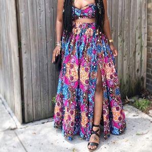 Dresses & Skirts - 2 pc African Print Set